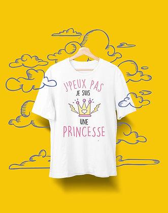 T-shirt Sweat Enfant j'peux pas je suis une princesse