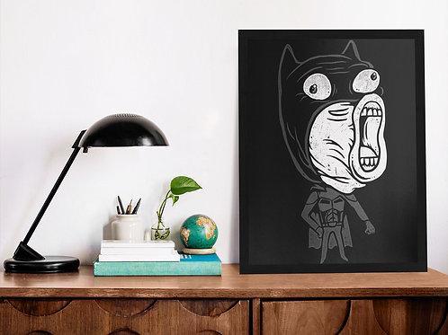 Affiche illustration batman drôle