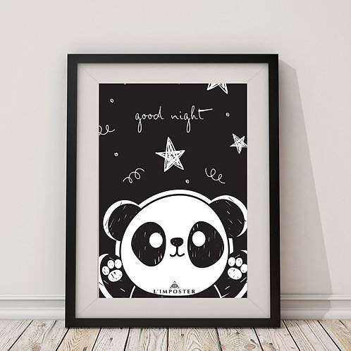 Affiche Panda good night