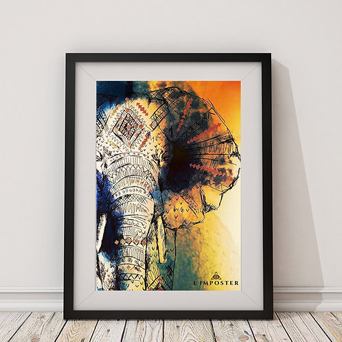 Affiche Elephant watercolor