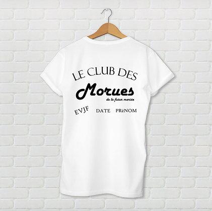 T-shirt EVJF le club des morues