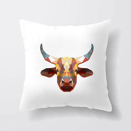 Housse de coussin Vache origami Illustration 283