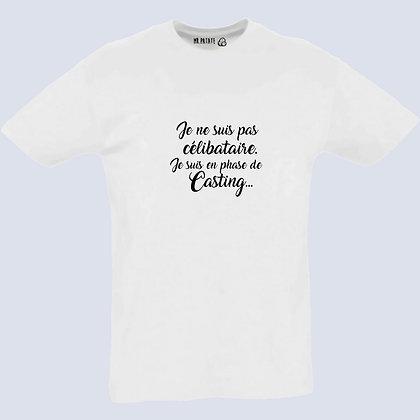 T-Shirt Unisexe Je ne suis pas célibataire