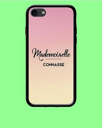 Coque mobile iPhone mademoiselle 153