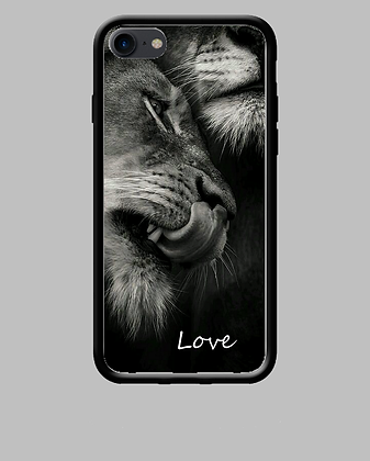 Coque mobile iPhone lions love 232