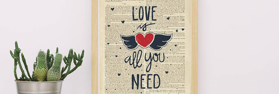 Affiche vintage All you need is love