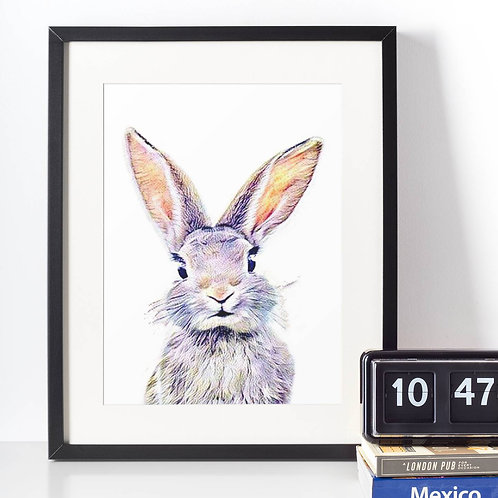 Affiche Lapin watercolor