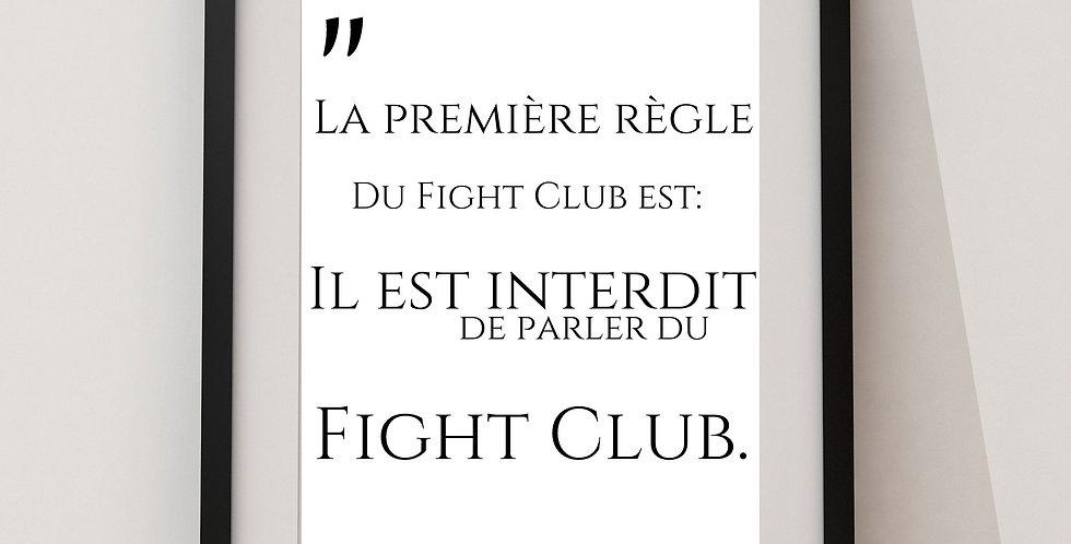 Affiche citation Fight club 10