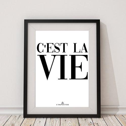 Affiche citation c'est la vie