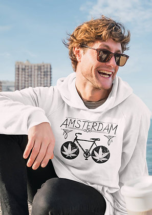 Sweat Pull Over i love Amsterdam weed et velo