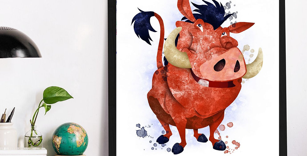 Affiche Pumba watercolor 537