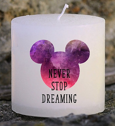 Bougie Personnalisée Nany Candle Never stop dreaming