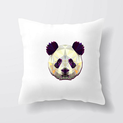 Housse de coussin Panda origami Illustration 164