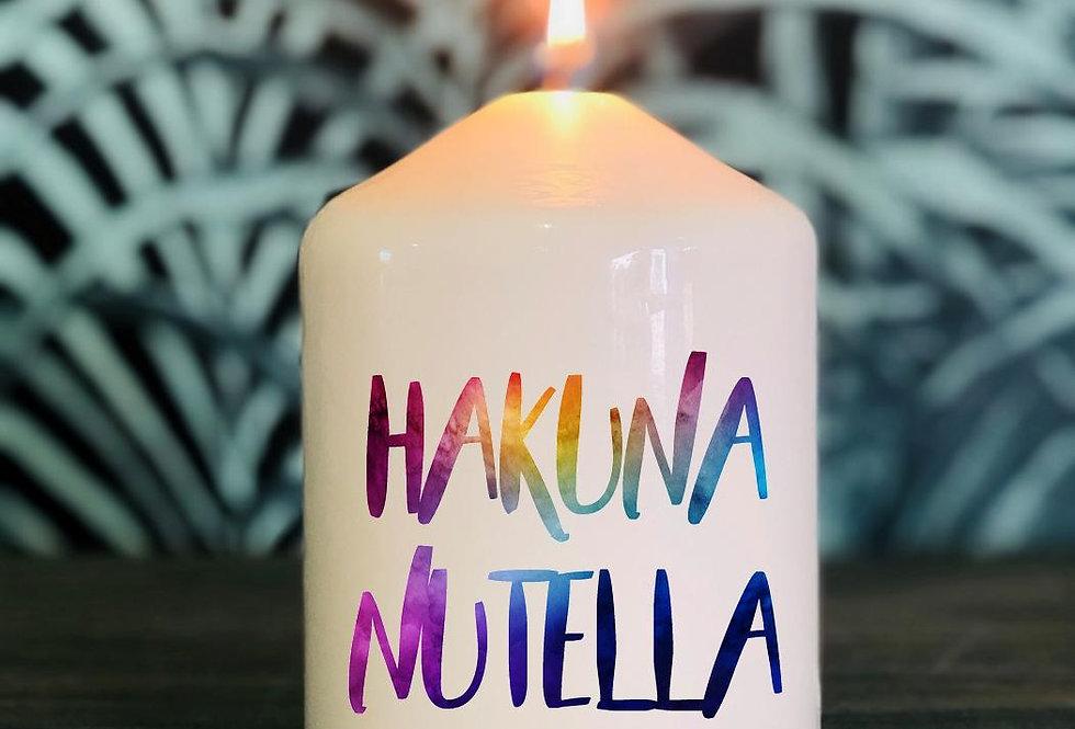Bougie Hakuna nutella
