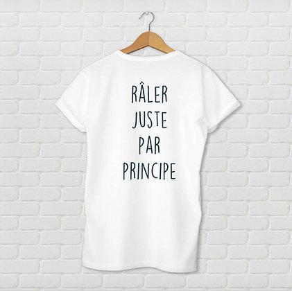T-shirt râler juste par principe