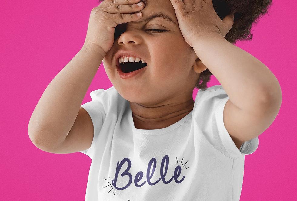 T-shirt Sweat Enfant Belle est rebelle comme ma tati 350