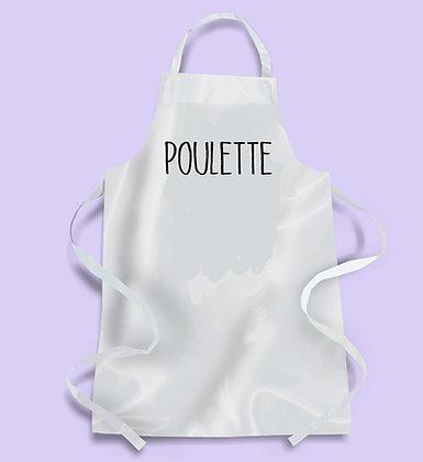 Tablier cuisine citation Poulette