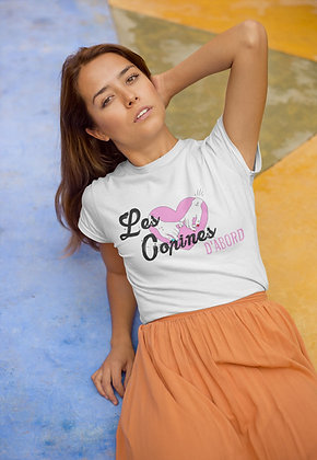 T-shirt Les copines d'abord avec phrase citation drole pas cher