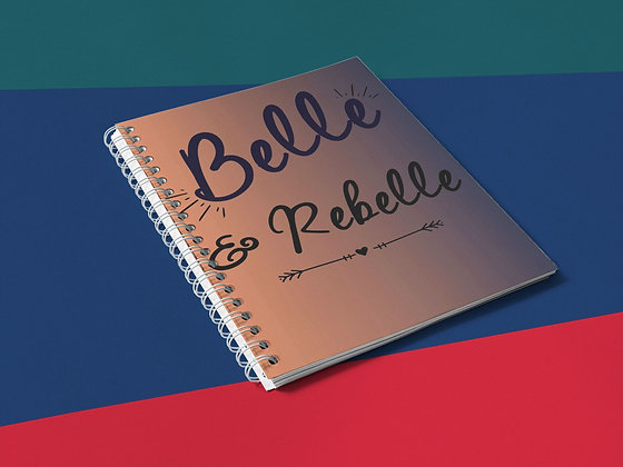 Cahier à spirale citation belle et rebelle