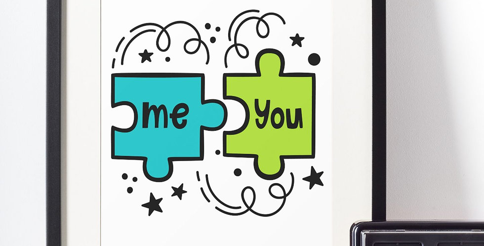 Affiche illustration puzzle me+you 426