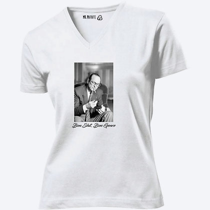 T-shirt Femme Col V Chirac citation