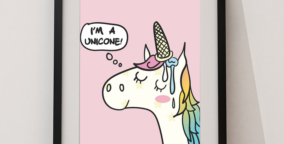 Affiche Licorne funny unicone 9