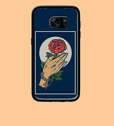 Coque mobile samsung Main et rose 10