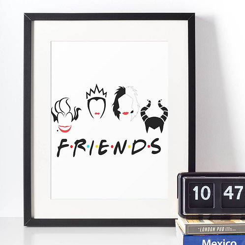 Affiche Dessin FRIENDS méchantes