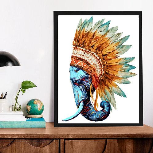 Affiche Éléphant indien