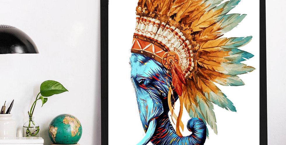 Affiche Éléphant indien 525