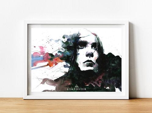 Affiche Femme watercolor