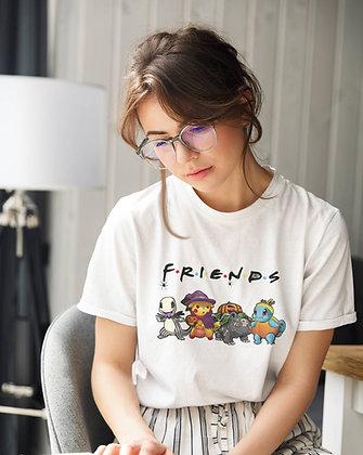 T-shirt FRIENDS pokemon pikachu et co