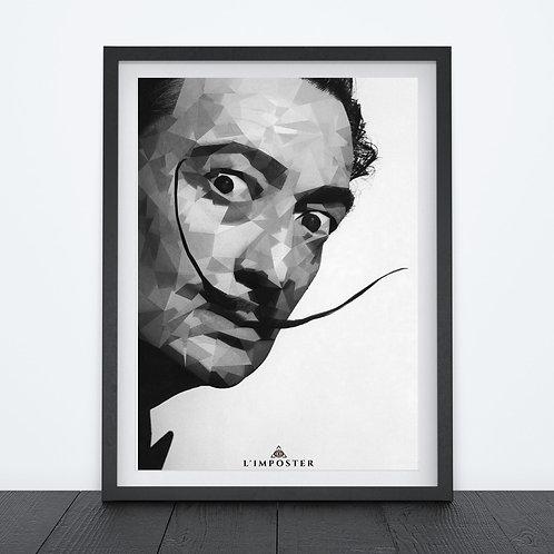 Affiche Dali moustache origami