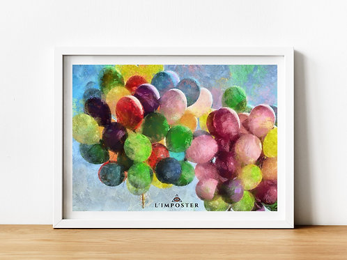 Affiche Ballon watercolor