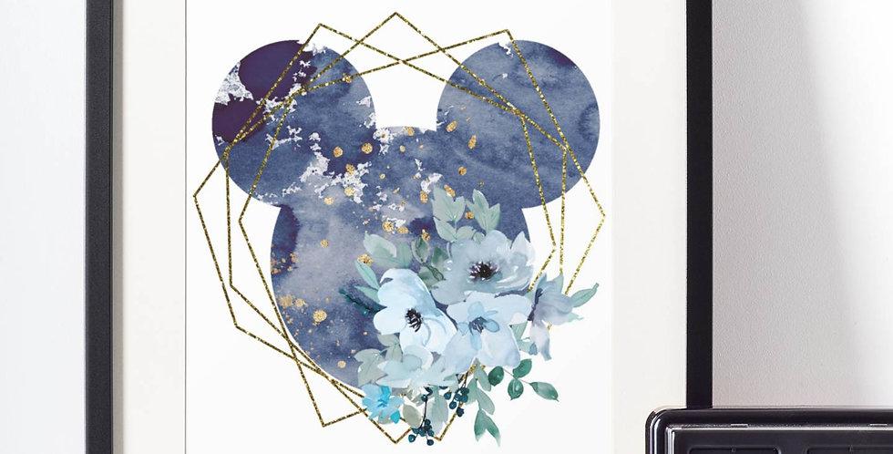 Affiche Dessin Mouse fleur 498