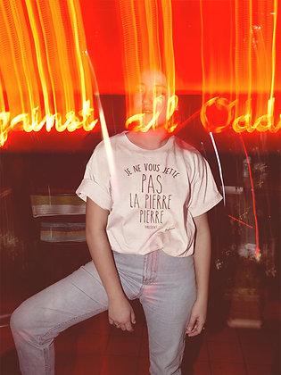 T-shirt Je ne vous jette pas la pierre Pierre Citation Badass