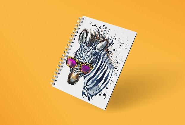 Cahier à spirale Zèbre funny watercolor