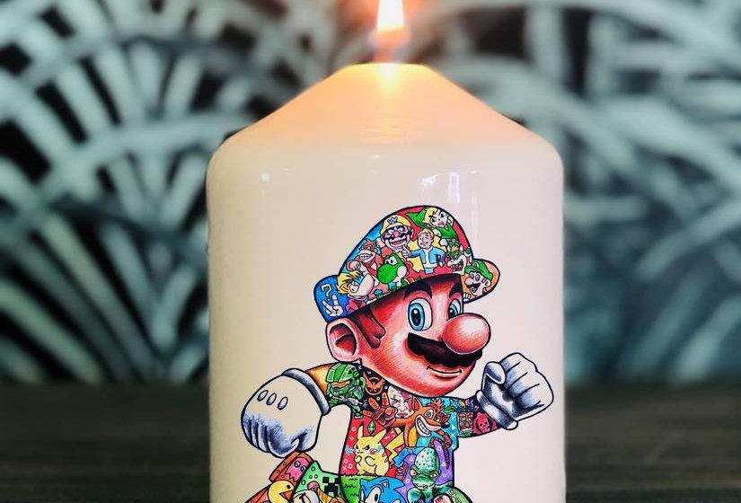 Bougie Mario tatoo By Little Sams Art