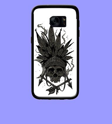 Coque mobile Samsung tête de mort indien 355