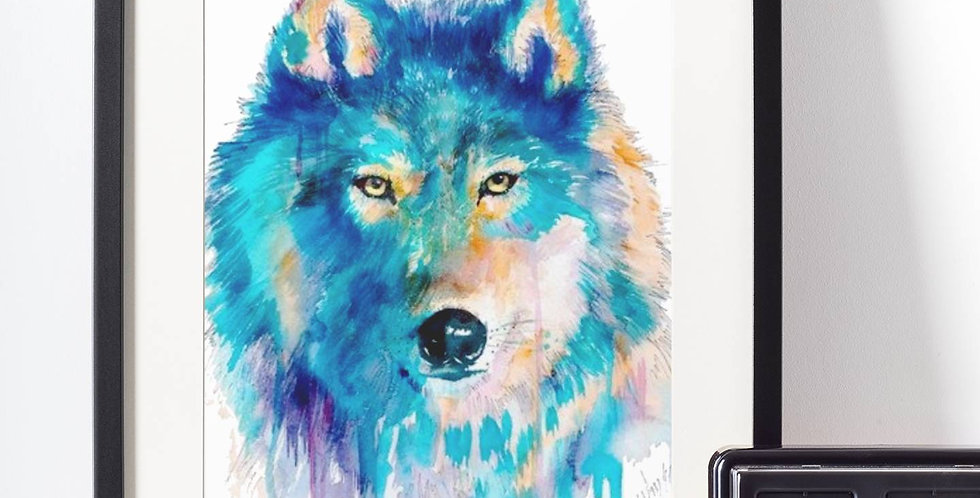 Affiche Loup watercolor 513