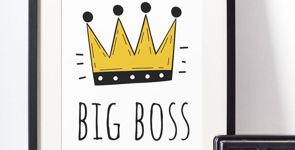 Affiche illustration big boss 418
