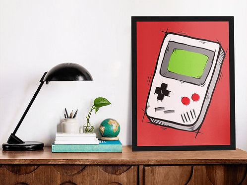 Affiche illustration game boy