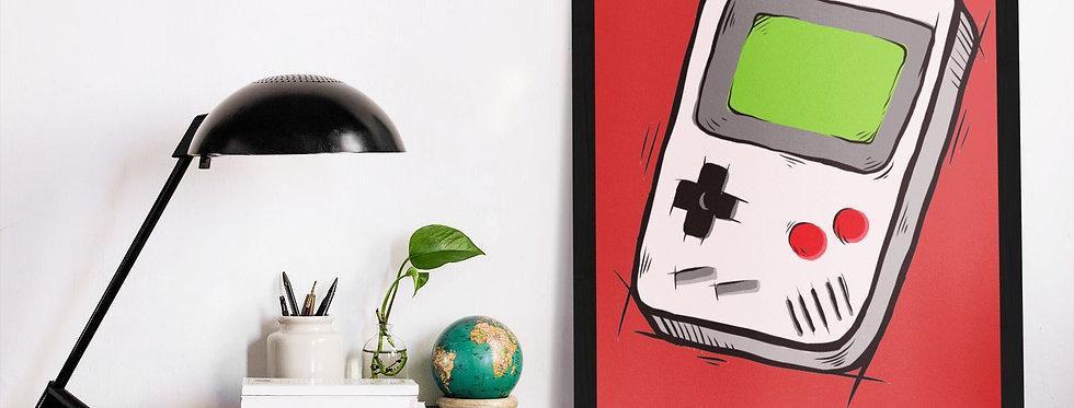 Affiche illustration game boy 402