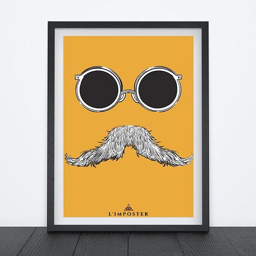 Affiche Moustache lunette