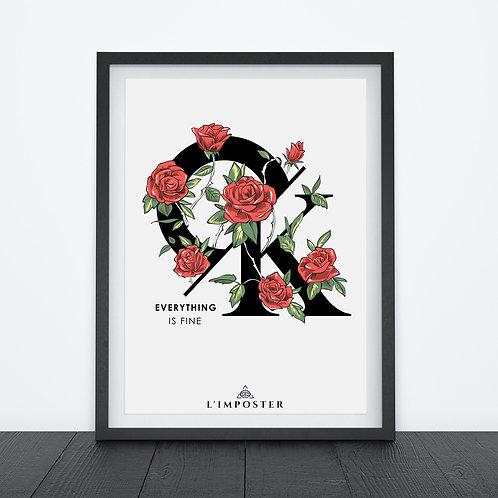 Affiche CK floral pas cher