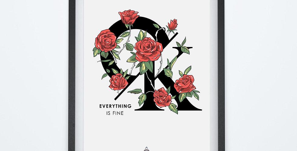 Affiche CK floral 26