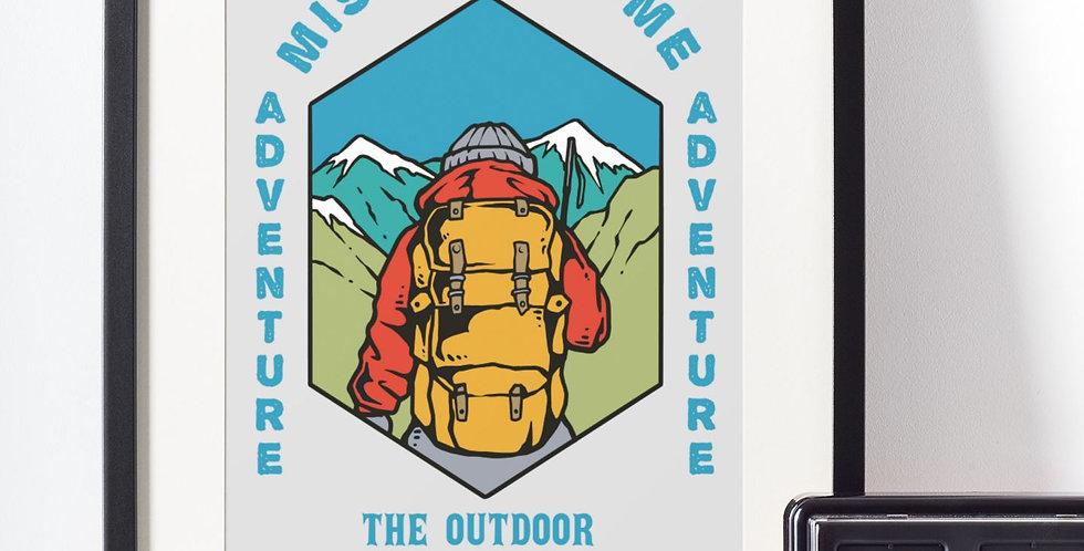 Affiche illustration citation outdoor 429