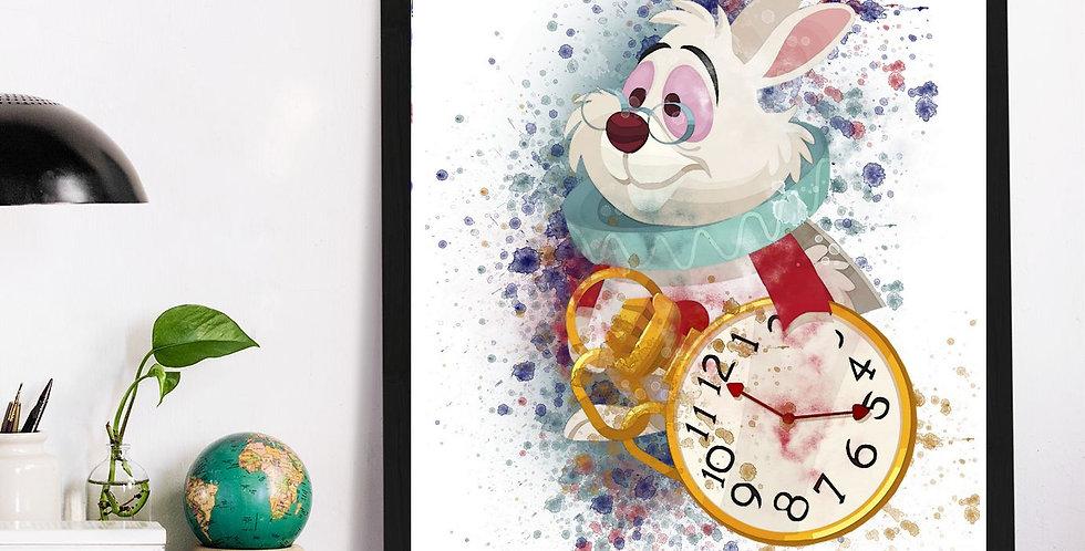 Affiche Alice aux pays watercolor 529