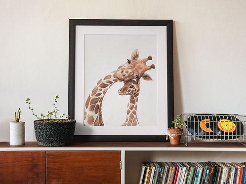 Affiche Illustration girafe