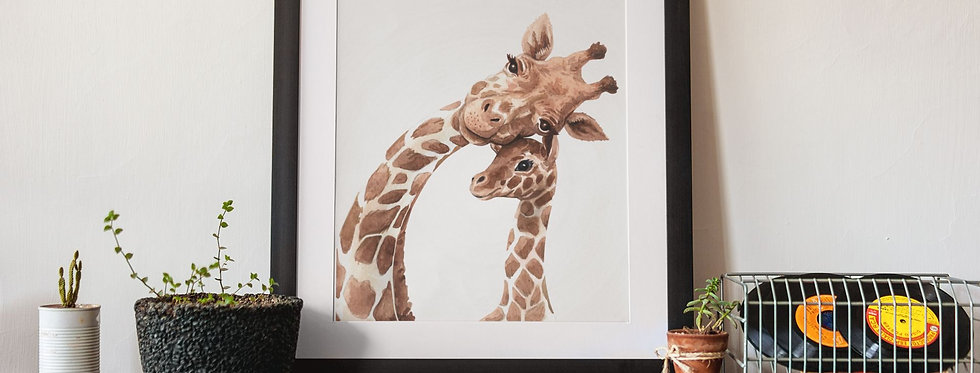 Affiche Illustration girafe 333